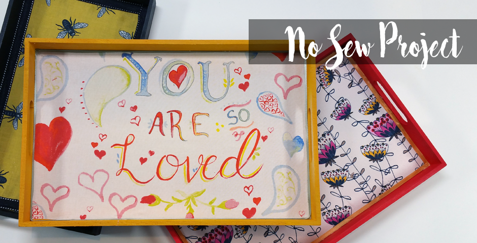 No Sew Project – Trays