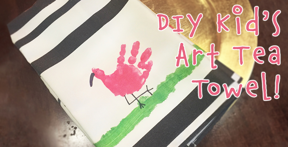 DIY Kid's Art Tea Towels! 🖍🎨