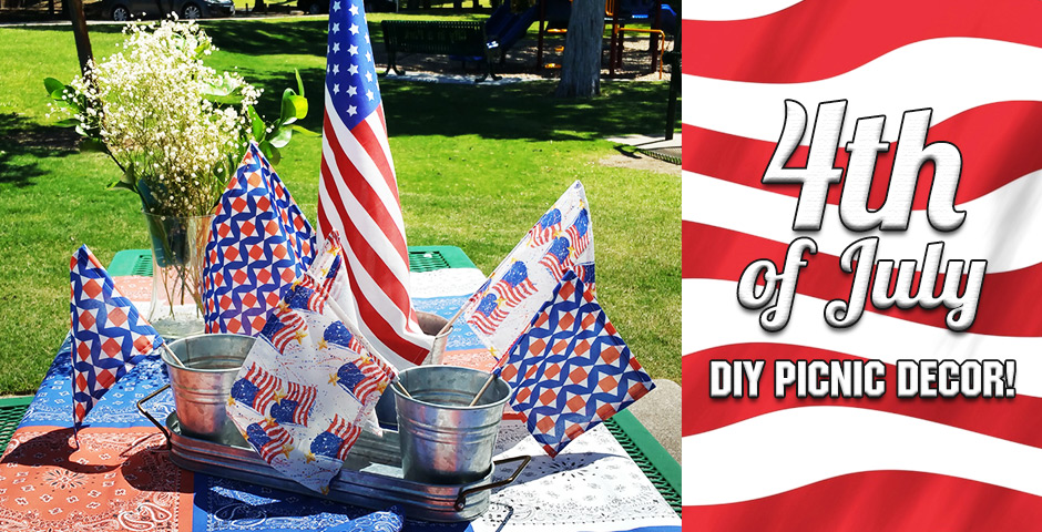 4th of July DIY Picnic Decor!